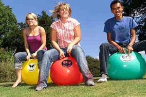 Premier Disco Hire space hoppers for events