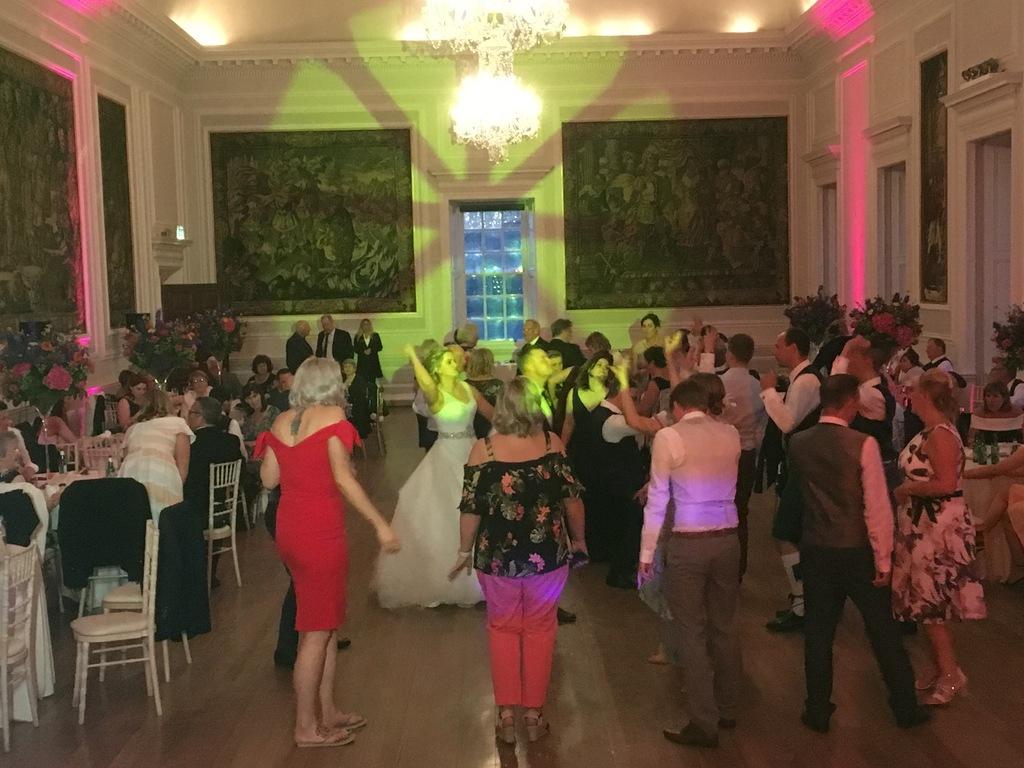 Dancers at a Hopetoun House wedding reception