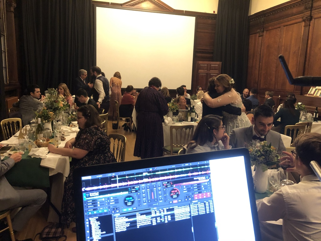 Premier DJ preparing for the evening receception at the French Consulate in Edinburgh