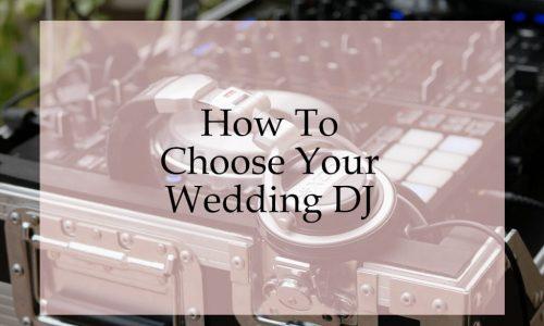 Premier Disco - How To Choose A Wedding DJ