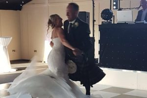 All Day Wedding with Bride and groom first dance at Archerfield All day wedding