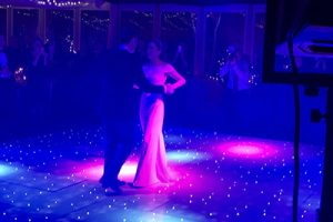 Premier DJ Bride and Groom Blue and purple
