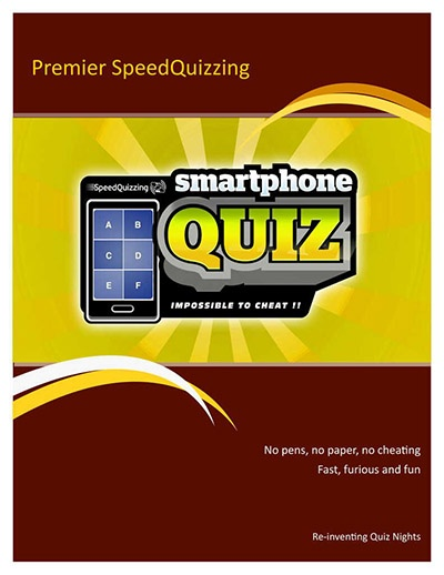 Premier SpeedQuizzing Leaflet